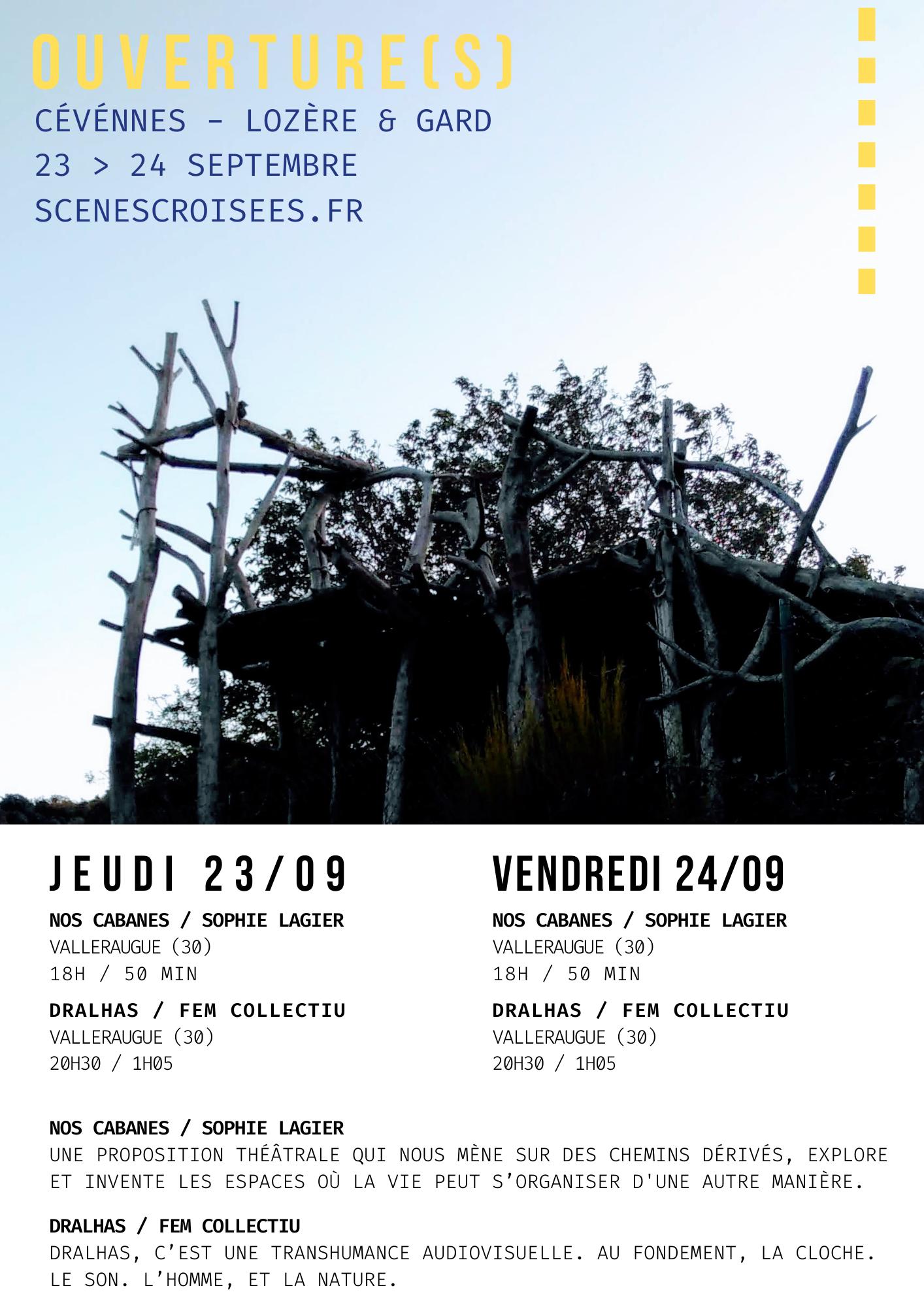 ★ OUVERTURE(S) – Cévennes – Lozère & Gard – Jeu. 23 & Ven. 24 septembre ★
